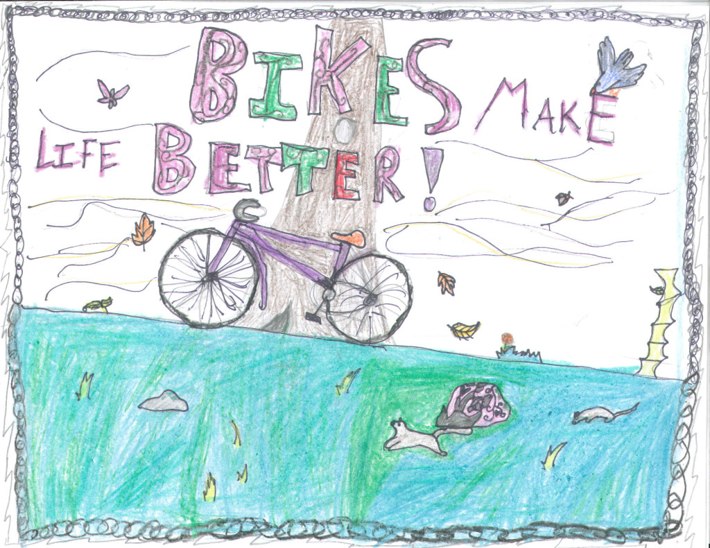 2013 5th Grade Bicycle Poster Contest first place for Washington State.
