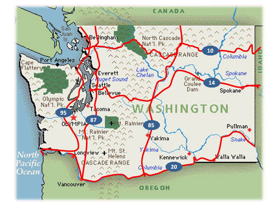 US Bicycle Route System In Washington Washington BikesWashington - Washington on the us map