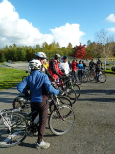 Participants in a Bike and Pedestrian Safety Education Program Training