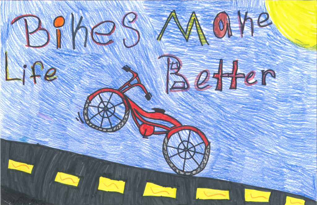 Winner of the People's Choice Award for the 2013 5th Grade Bicycle Poster Contest