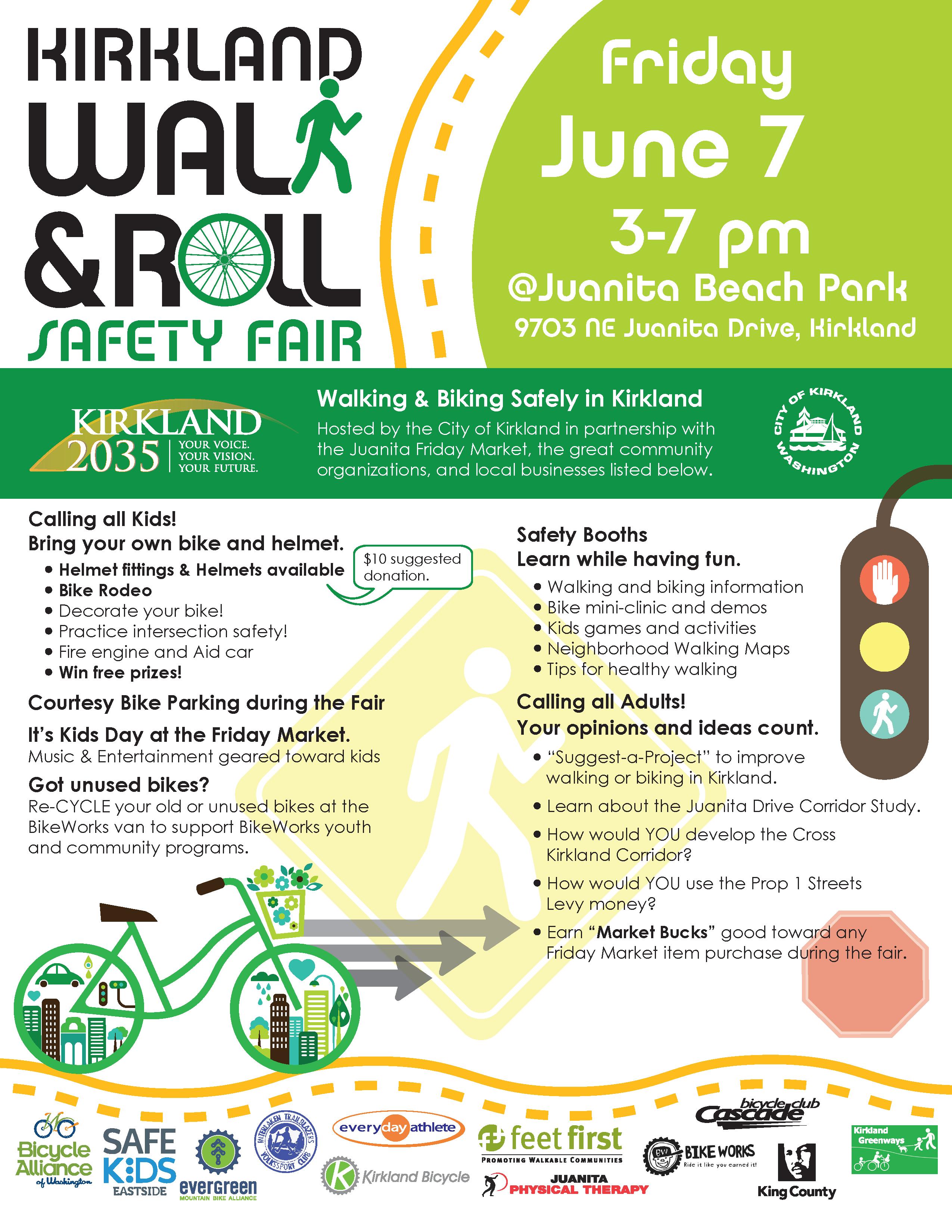 Kirkland Walk Amp Roll Safety Fair Is This Friday