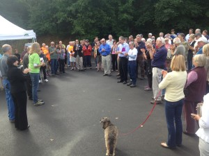Over 90 attended the Guemes Channel Trail site visit with Congressman Rick Larsen