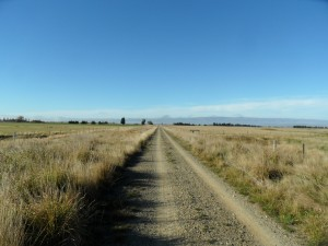 Blue sky country of Otago Rail Trail