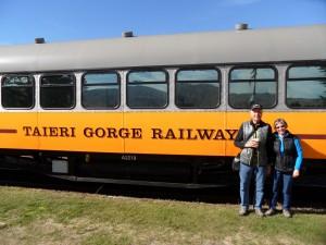 Ready to board train to Dunedin