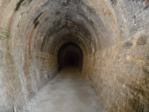 Interior of stone tunnel
