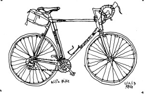 Andy Goulding sketch of road bike
