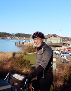 John Pope, WA Bikes board member, in Anacortes.