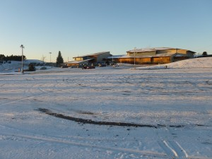 Pullman High School parking lot.