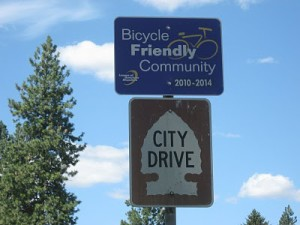Bicycle-Friendly Community sign