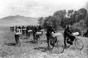 Buffalo Soldiers on bikes