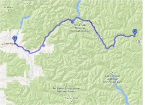 Concrete to Mazama, WA on the proposed USBR10.