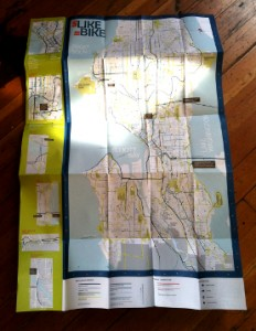 The 2014 Seattle Bicycle Guidemap