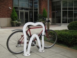 Speaking of flossing.... guess what kind of business is found inside the Redmond office building that sports this rack?