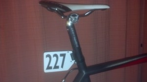 This race number is not on my bike. If you see it out on the road, say hi to my bike-racing husband.