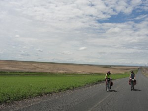 Bike touring in eastern Washington's Palouse country through gently rolling hills -- a photographer's dream