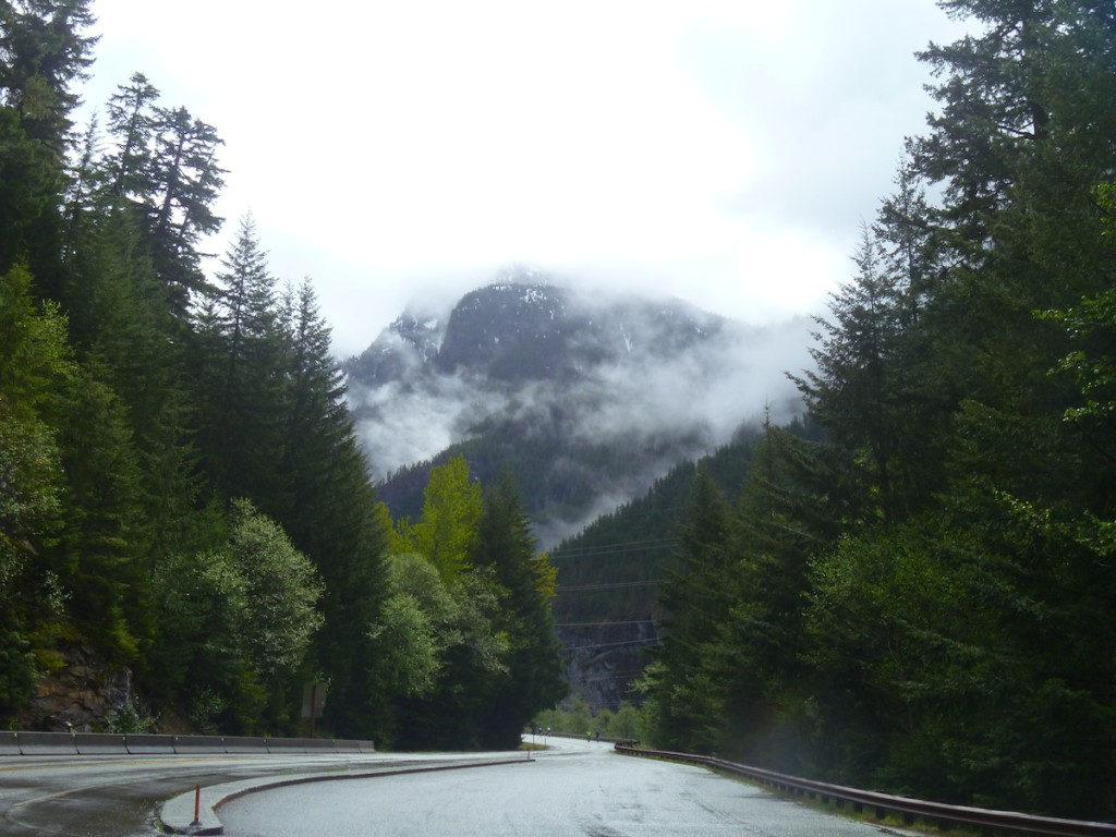 The car-free view up the North Cascades Highway