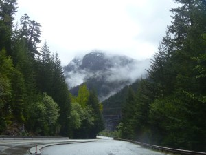 The car-free view up the North Cascades Highway. Josh Cohen photo.