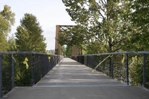 Centennial Trail Crosses the Stillaguamish River at the convergence of its North and South Forks. Photo courtesy of Debora Nelson