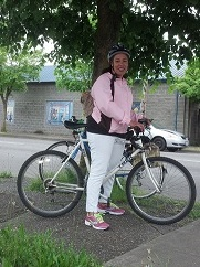 Andrea Bell, bike commuter, rode the trails from Tacoma to Olympia to enjoy the outdoors (and find some breakfast).