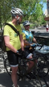 Great to see one of our Share the Road jerseys at the start of the Commute of the Century ride!