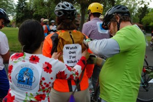 Spokane riders prepare for the Ride of Silence.