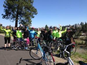 Spokane Belles and Baskets ride April 13, 2014, along the Spokane River.
