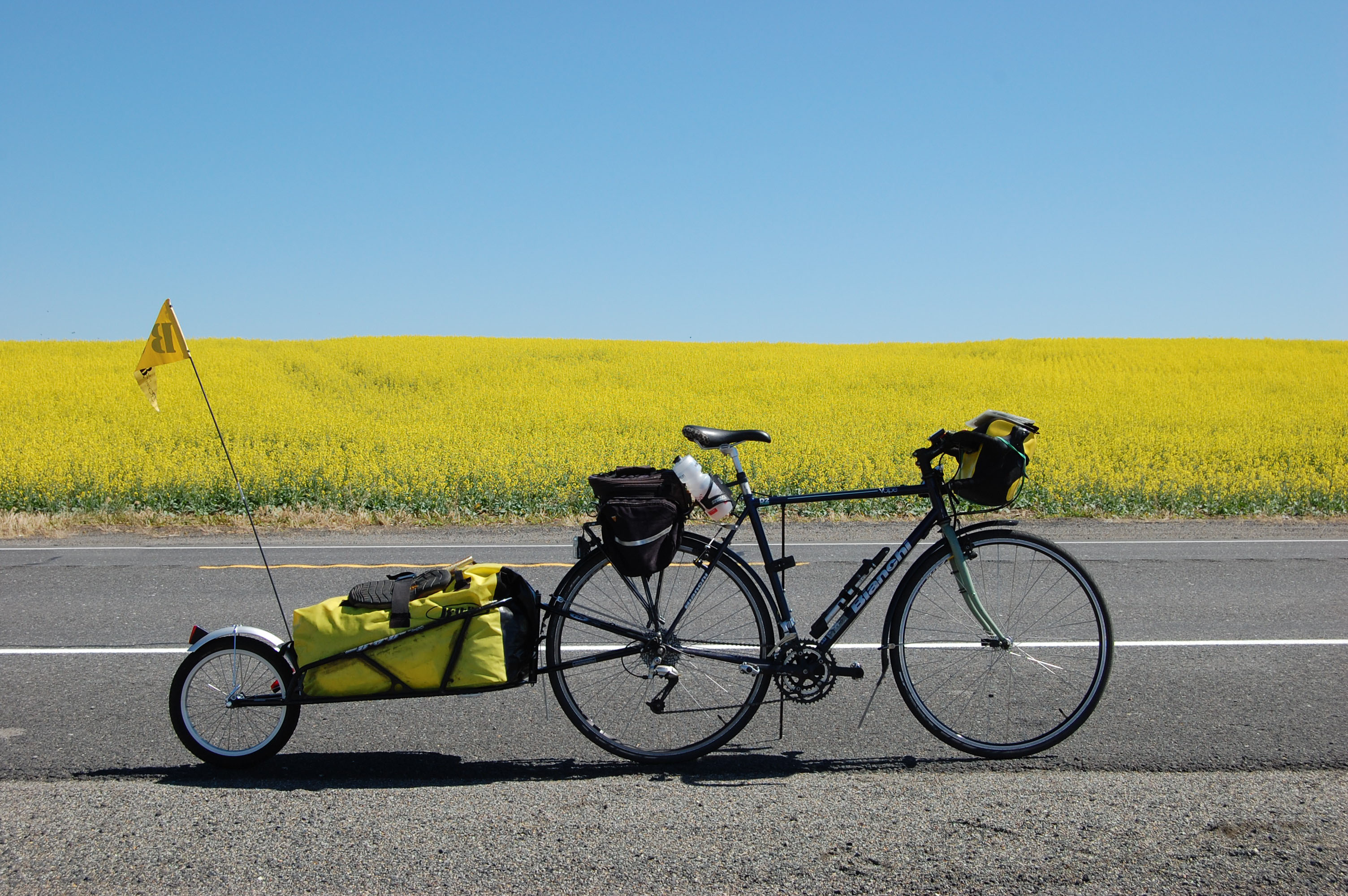Even local bike travel can take you far from the familiar ...