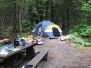 Campsite at Cold Creek