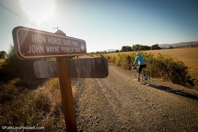 Exploring the John Wayne Trail near Ellensburg.