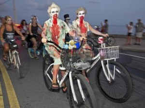 Meanwhile, costumed bike rides let you add one more factor to consider: What if it's true that you never really forget how to ride a bike and the zombies come after you on two wheels?