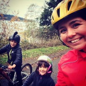 "Mom Tonya shared this with us, saying, ""Kids out of school, cold & rainy, time to ride!"""