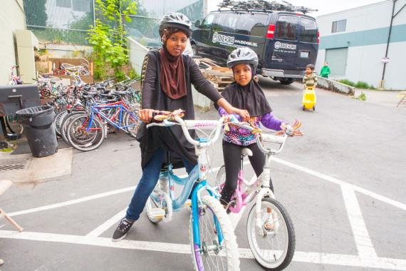 These girls at a Bike Works Kid Bike-O-Rama represent the future of bicycling.