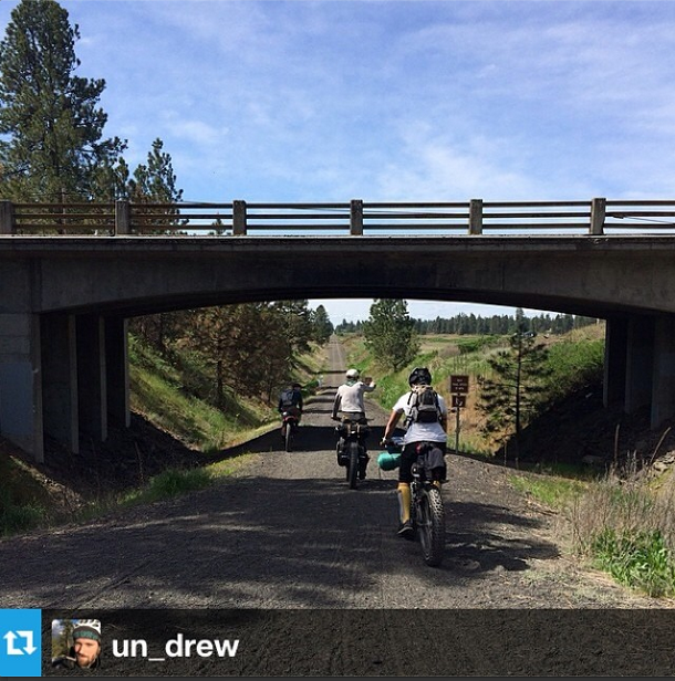 Cyclists explore the Columbia Plateau Trail.