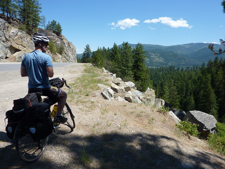 One of the mountain views you'll find (earn!) if you ride the tours in Cycling Sojourner Washington.