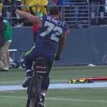 Michael Bennett Rides a Bike