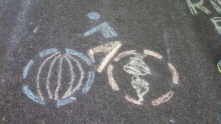 Bikes Yakima Washington Chalk art from the first Tour