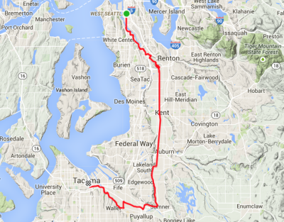 Google Map Image Seattle To Tacoma Washington