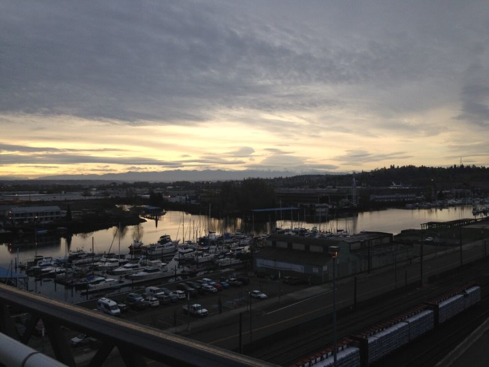 Mount Rainier from Tacoma. The fruits of our efforts! Pic by Eileen.