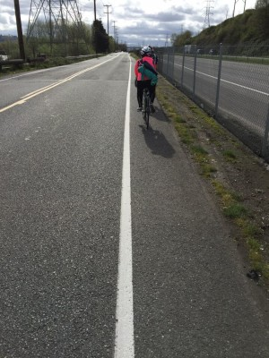 Bicycling in Seattle through South Park to the Green River Trail. David Killmon photo 2015
