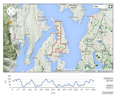 North Kitsap Loop Map