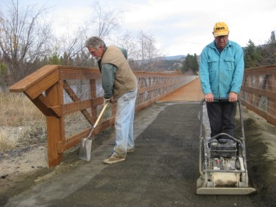 Ferry County Rail Trail work