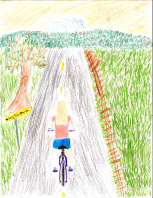 Washington's winning poster for Bicycle Poster Contest.