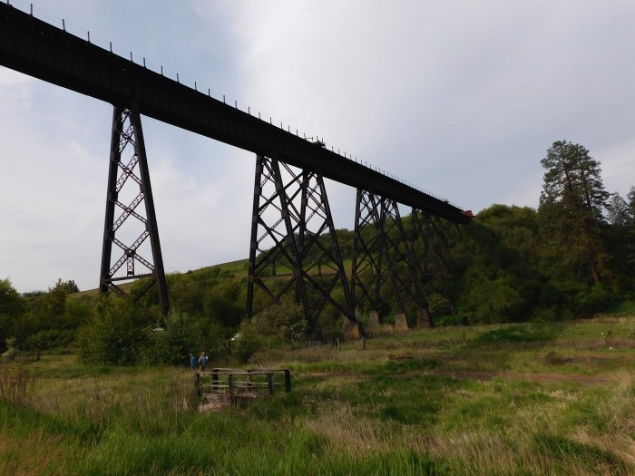 Restoring the Tekoa Trestle will help make the John Wayne Pioneer Trail a world-class long-distance trail. Photo courtesy of Tekoa Trail and Trestle Association.