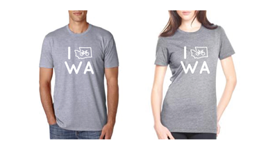 "Free ""I Bike WA"" t-shirt with every donation >$50"