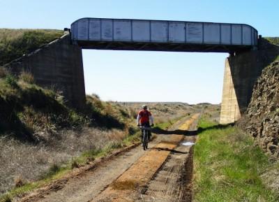 Columbia Plateau Trail crosses over John Wayne Pioneer Trail in eastern WA.