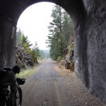 Riding through old railroad tunnels in western WA: One of the many striking images along the way.