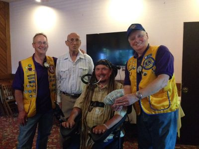The Sequim Lions Club is supporting Ian's ride with a generous donation.
